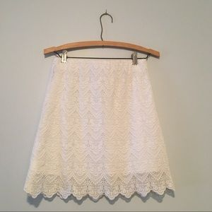 J.Crew Factory White Lace Skirt